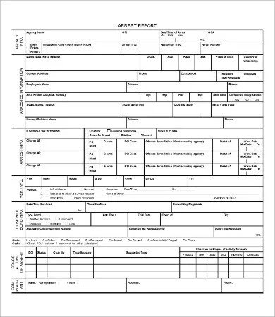 Police Report Template - 9+ Free Word, PDF Documents Download Free