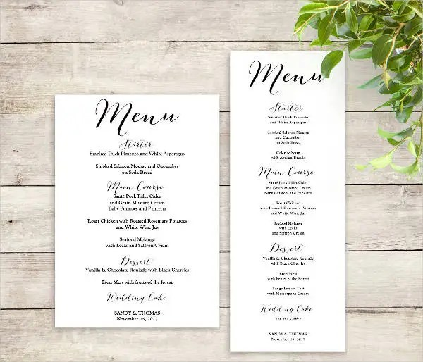 Printable Menu Template - 9+ Free PSD, Vector AI, EPS Format