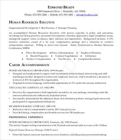 14+ Sample Executive Resume Templates - PDF, DOC Free  Premium