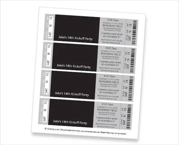 Event Ticket Template - 9+ Free PSD, Vector AI, EPS Format Download - event ticket template
