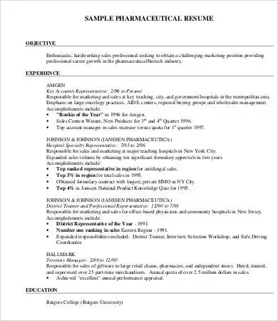 10+ Printable Product Manager Resume Templates - PDF, DOC Free - pharmaceutical resume template