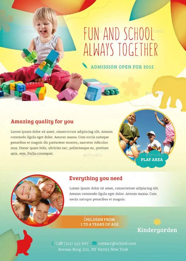 16+ Beautiful Day-Care Flyer Templates Free  Premium Templates