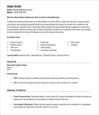 Warehouse Worker Resume - 7+ Free Sample, Example, Format Free