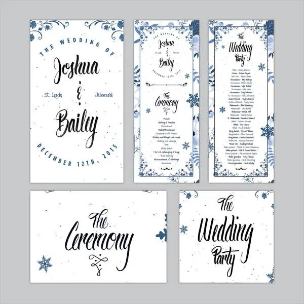 Free Wedding Program Templates - 9+ Free PSD, Vector AI, EPS Format