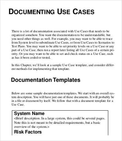 Use Case Template - 9+ Free Word, PDF Documents Download Free - use case template