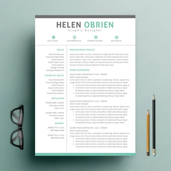 9+ One Page Resume Templates Free  Premium Templates