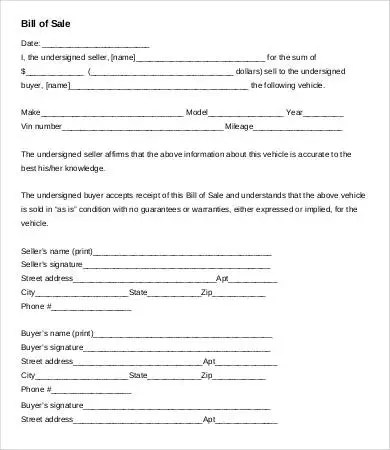 Motorcycle Bill of Sale Template - 9+ Free Word, PDF Documents