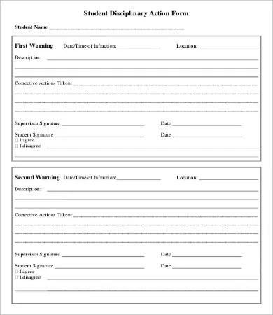 Disciplinary Action Form - 20+ Free Word, PDF Documents Download