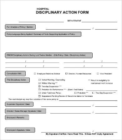 disciplinary action forms Archives - satpuralawcollegeorg - action form in pdf
