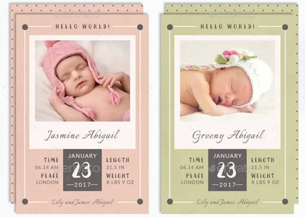 9+ Baby Announcement Templates - Free PSD, AI, Vector, EPS Format - birth announcement template