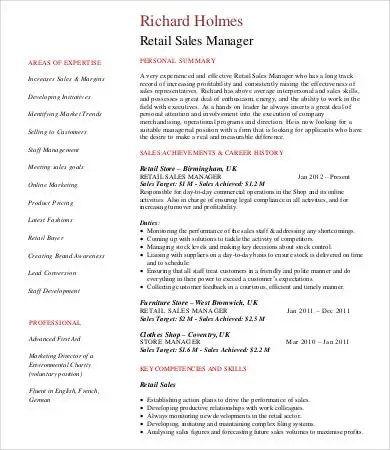 retail sales manager resume ideas information sales manger resume - retail sales resume skills