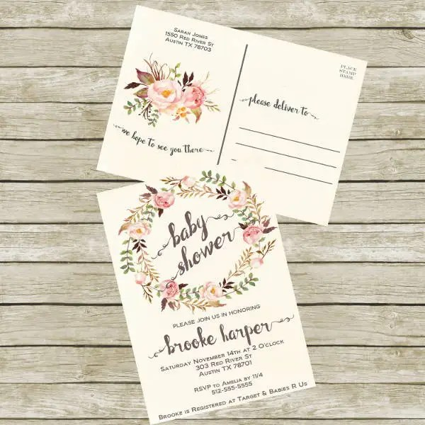 postcards invitations - Goalgoodwinmetals - post card invitations