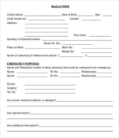 medical consent form template 105 Medical consent form template - medical form in pdf