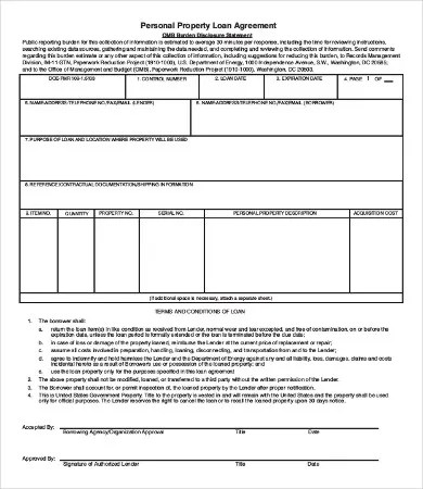 16+ Personal Loan Agreement Templates Free PDF, Word Samples - private loan agreement template