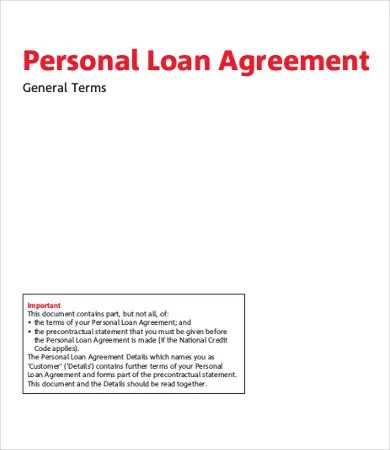 Personal Loan Agreement Template - 12+ Free Word, PDF Documents - Private Loan Agreement Template