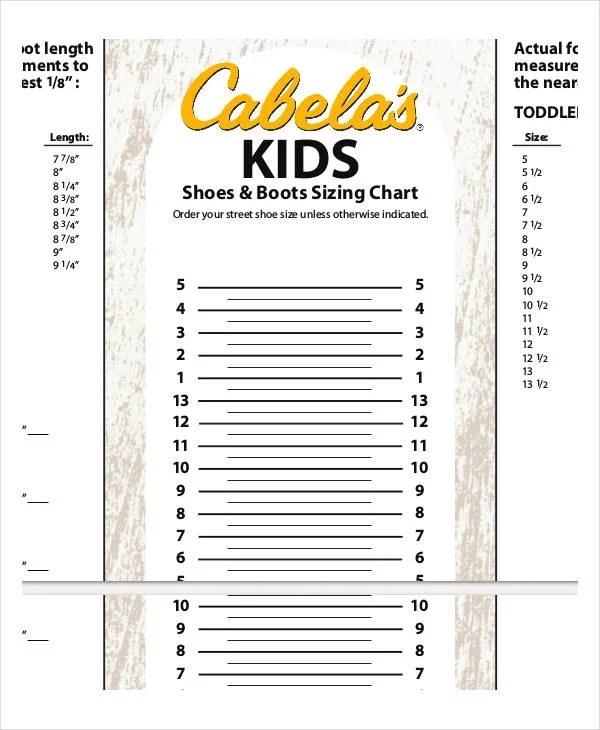shoe size chart printable - Engneeuforic
