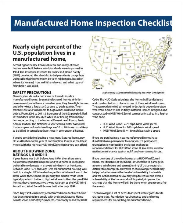 Home Inspection Checklist Template - 9+ Free PDF Documents Download