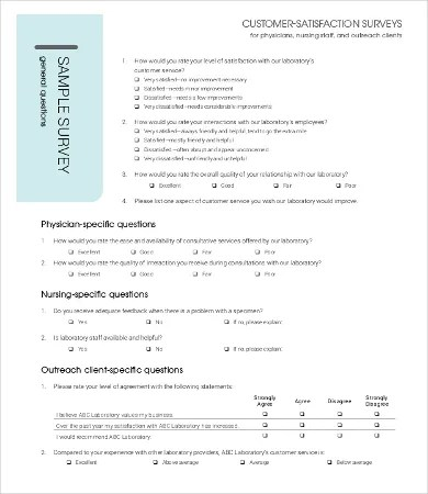 Physician Satisfaction Survey Template- 7+Free PDF Documents