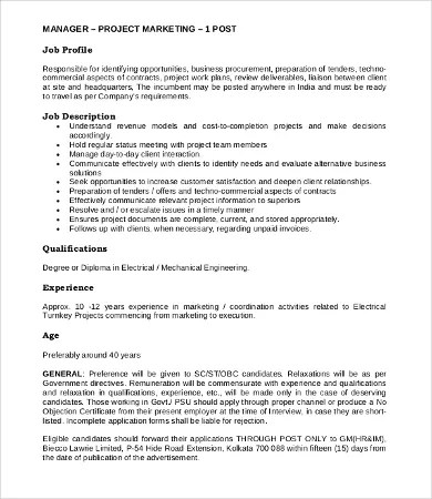 13+ Marketing Job Description Templates - PDF, DOC Free  Premium