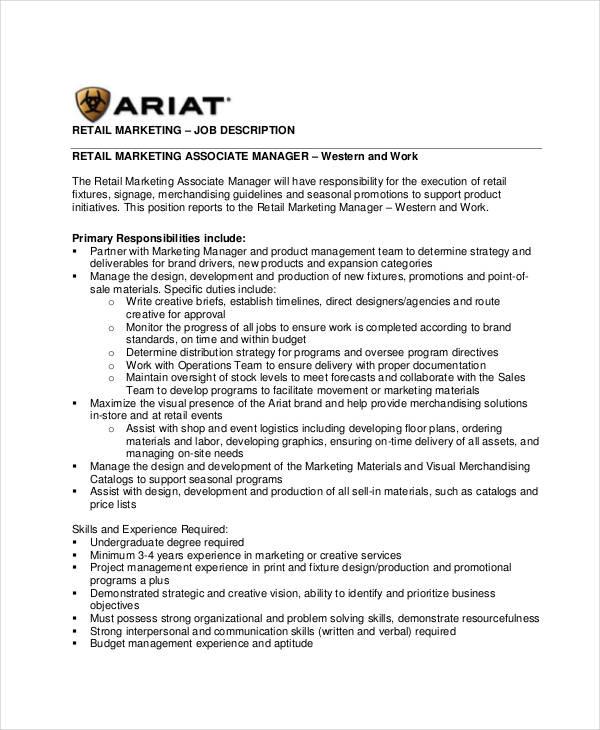 Trade Marketing Job Description Ispahani Group Assistant Manager - trade marketing job description