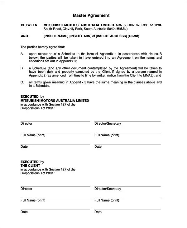 car lease agreement form - Boatjeremyeaton - Auto Contract Template