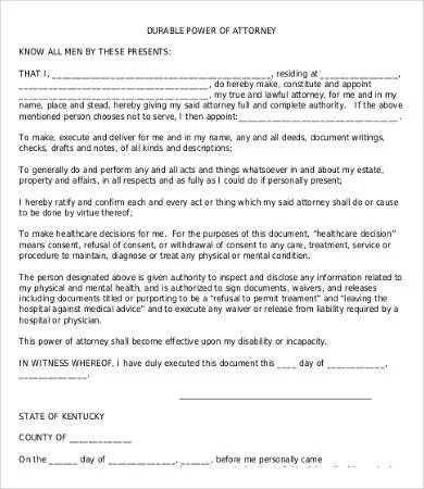 Power Of Attorney Form Free Printable - 9+ Free Word, PDF Documents - simple power of attorney form example
