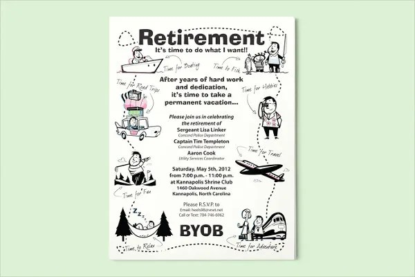 retirement poster templates - Gottayotti