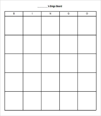 bingo cards template - Josemulinohouse - blank bingo card template