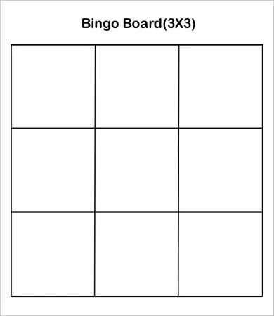 bingo sheet template - Josemulinohouse
