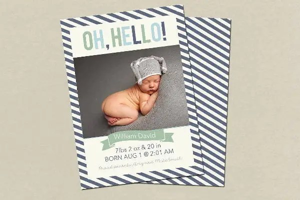9+ Birth Announcement Templates - Printable PSD, AI Format Download