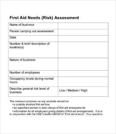 Sample Needs Assessment - 9+Free Word, PDF Documents Download Free - needs assessment templates