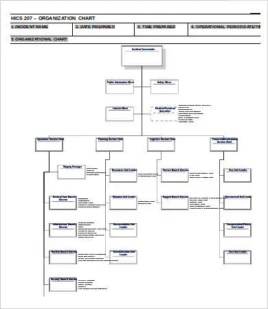 Organization Chart Template 10+ Free WOrd, PDF DOcuments Download