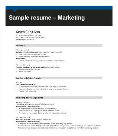 9+ Professional Resume Samples - PDF, DOC Free  Premium Templates - sample professional resumes