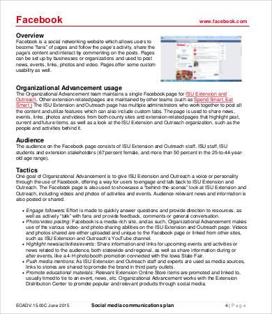 Social Media Plan Template - 8+ Free Word, PDF Documents Downlaod