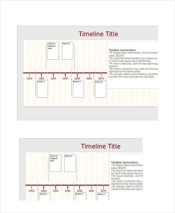 ... Sample Excel Timeline Template Simple Timeline Template For Kids    Sample Keynote Timeline ...