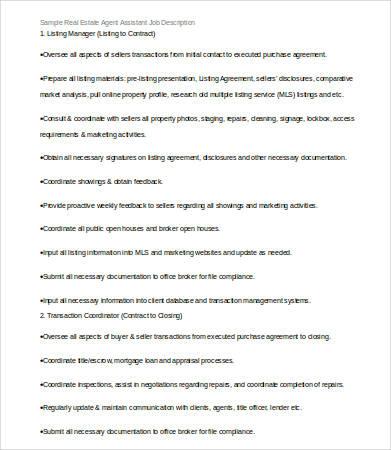 Realtor Job Description | Node2001 Cvresume.paasprovider.com