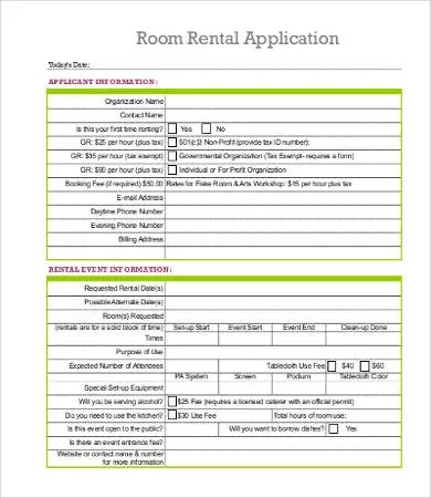 Free Rental Application Templates - 10+ Free Word, PDF Documents