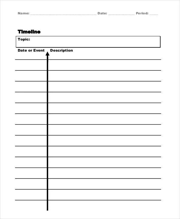 vertical timeline template word - Romeolandinez - timeline template
