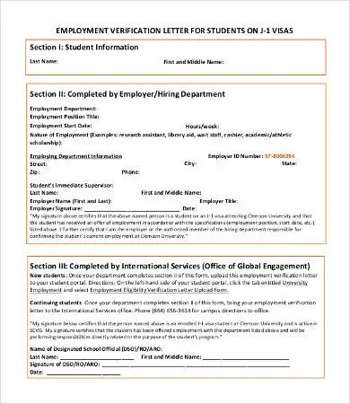 Verification of Employment Letter - 12+ Free Word, PDF Documents - example employment verification letter