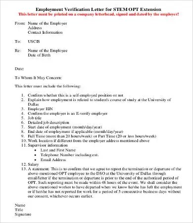 Verification of Employment Letter - 12+ Free Word, PDF Documents - employee verification letter