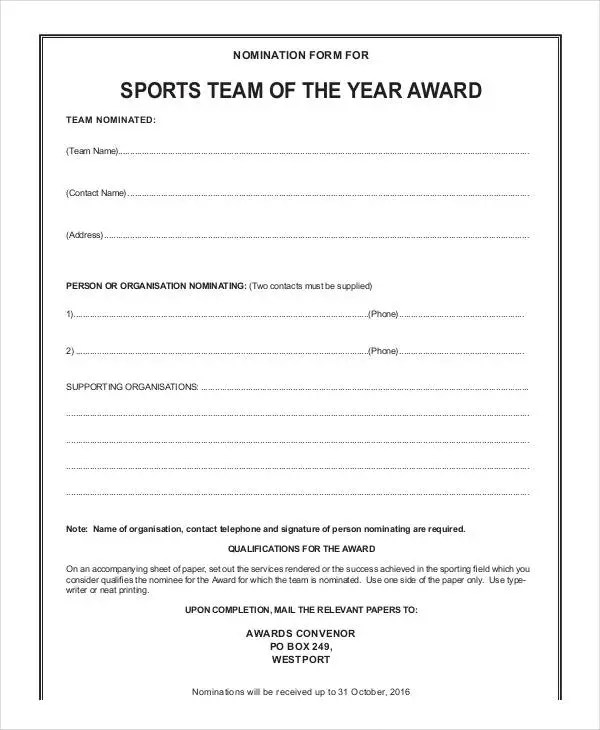 Year Award Templates - 9+ Free PDF Documents Download Free