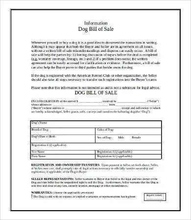 Bill of Sale Template in Word - 9+ Free Word, Documents Download - legal bill of sale template