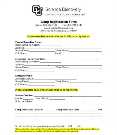 10+ Printable Registration Form Templates - PDF, DOC Free