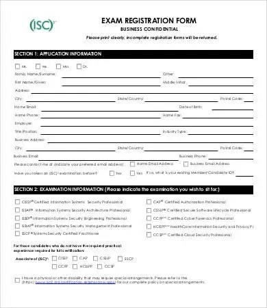 10+ Printable Registration Form Templates - PDF, DOC Free