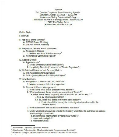 Board Meeting Agenda Template - 8+Free Word, PDF Documents Download - board meeting agenda
