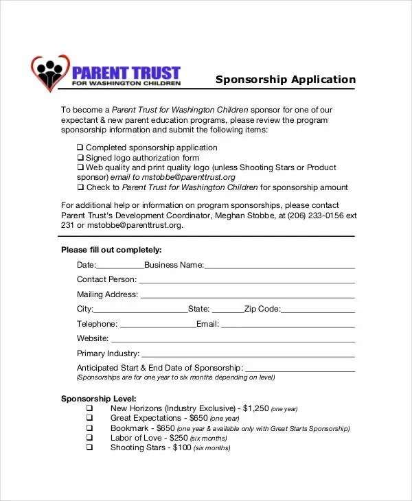 How To Write A Letter Requesting Sponsorship With Sample 8 Sponsorship Application Templates – Free Sample