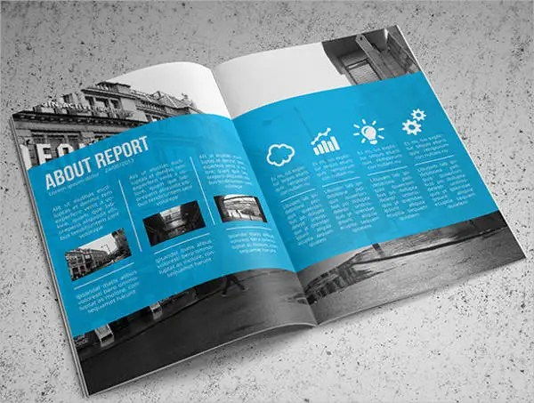 Annual Report Template Business Report Format 8 Free Psd Vector - free annual report templates