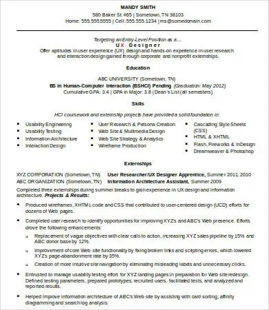Ux Designer Resume - 8+ Free Word, PDF Documents Download Free