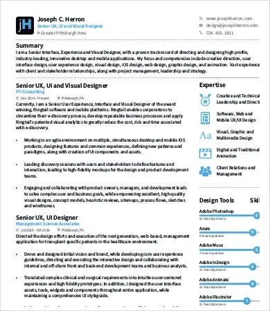 Ux Designer Resume - 8+ Free Word, PDF Documents Download Free - ux design resume