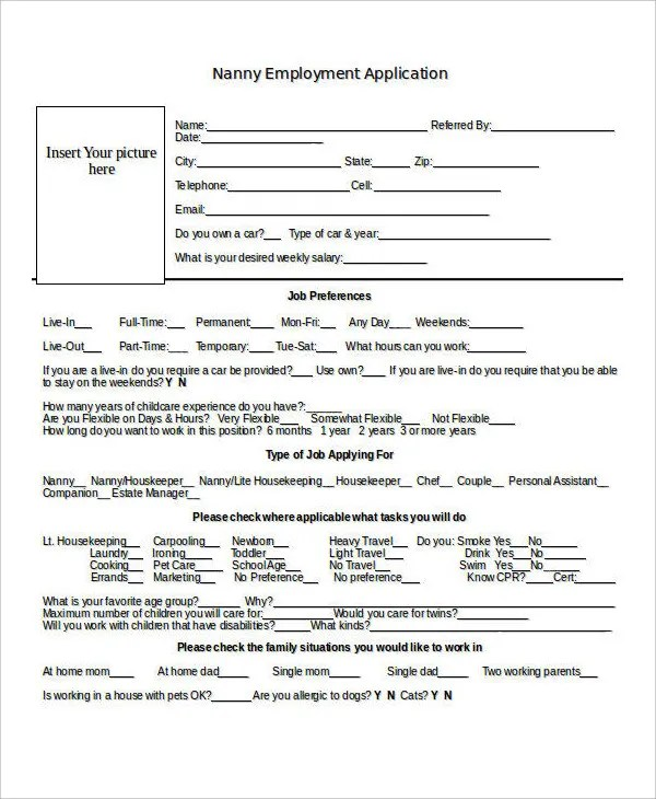 Employment Application Form Template Doc | Resume Examples For